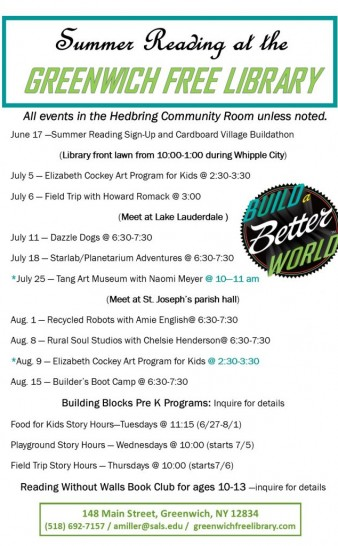 Summer Reading Events Schedule