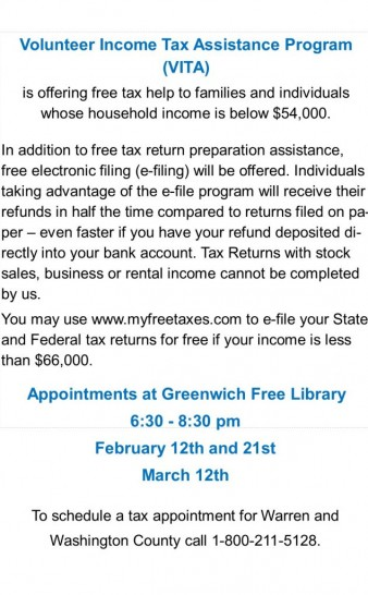 VITA Tax Prep Assistance
