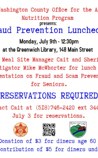Seniors Lunch - Fraud Prevention