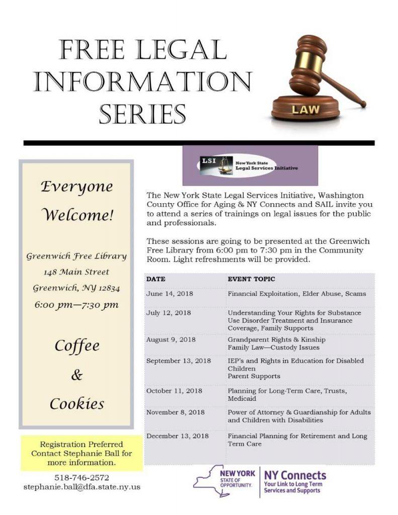 Legal Services schedule 2018