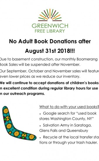 No Book Donations!